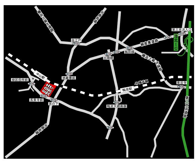 長泉寺アクセス地図